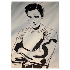 CLAYTON LEFEVRE (American, 20th Century) - Portrait Of Marlon Brando