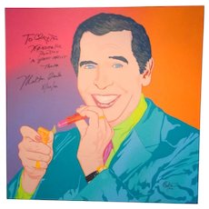 "Milton Berle Original Signed Portrait by Clayton LeFevre,  One Of The ""100 Club"""