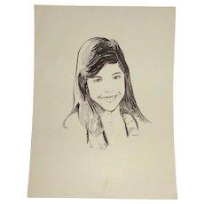 "Original Drawing ""Pure Beauty"" By Carlton  (20th Century American)"