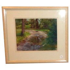 """Original Oil On Canvas """"Woods II"""", Signed By Grace Haverty"""