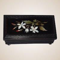 Antique Pietra Dura Trinket Box or Jewelry Box or Dresser Box