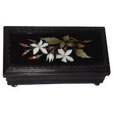 Antique Pietra Dura Dresser Box