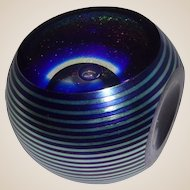 Signed Limited Edition Correia Faceted Paperweight, 79/100, 1984