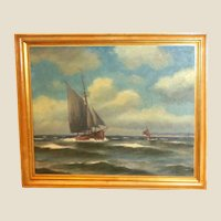 """Original Signed Oil Painting """"Clear Sailing"""""""