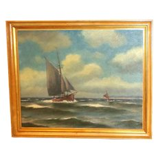 "Original Signed Oil Painting ""Clear Sailing"""