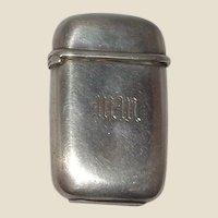 TIFFANY Sterling Silver Antique Match Safe (Vesta),  Signed, Circa 1907