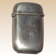 TIFFANY Sterling Silver Antique Match Safe (Vesta),  Signed, Circa 1907