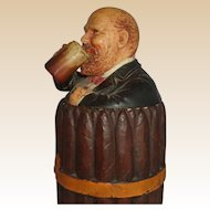 JOHANN MARESCH - Humidor As A Bundle Of Cigars Tied With A Ribbon, And A Happy Man Drinking A Beer
