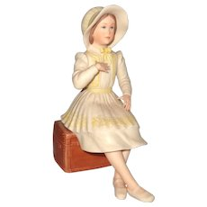 Lovely Limited Edition Porcelain Young Girl In Bonnet and Bows, By Laszlo Ispanky and Goebel