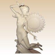"""Original Laszlo Ispanky Large Porcelain Prototype Sculpture for """"Dawn"""""""