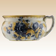 Antique English Bath Pitcher With Exquisite Tea Roses, By Maple & Co. Ltd.