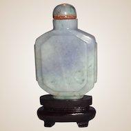 Lavender Jadeite Snuff Bottle,  19th Century, Exquisite