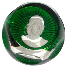 "Baccarat Signed Multi-Faceted Paperweight ""Alexander The Great"" - 1975 - Franklin Mint"