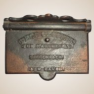 Cast Iron Self-Closing Match Safe, Circa 1864