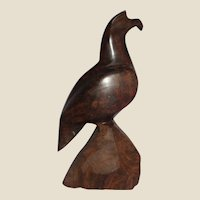 Carved Wood Stylized Eagle, Patriotic and Watchful