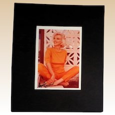 MARILYN MONROE - 1962 Photograph Signed By Photographer, George Barris