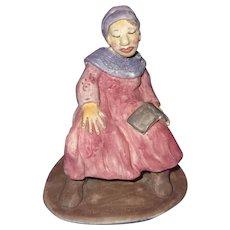 """The Chaperon"" Original Ceramic Figure Signed By Artist, Merle Davis"