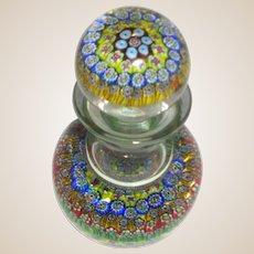 Murano Art Glass Millefiori Decanter