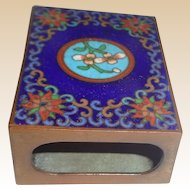 Vintage Cloisonne And Enamel Chinese Match Safe
