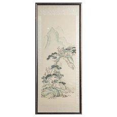 Chinese Original Mixed Media Mountainous Landscape
