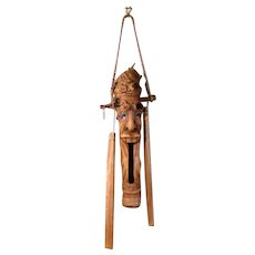 Vintage Folk Art Bamboo Rootman Wind Chime