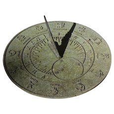 19th Century Metal Zodiac Sun Dial