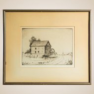 Lowell Stanley Bobleter (American, 1902-1973) Signed Drypoint Etching