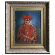 Dean L. Mitchell (American, b.1957), Original Signed Mixed Media Portrait