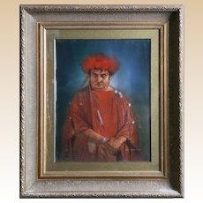 Dean L. Mitchell (American, b.1957), Original Signed Mixed Media Portrait