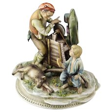 "Borsato ""Sharpener With Audience""  - Multi-Figural Sculpture, Simply Wonderful."