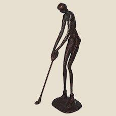 Woman Golfer,  Metal Sculpture