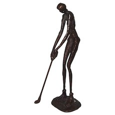 Woman Golfer,  Metal Sculpture