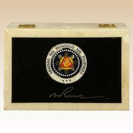 Marble Box Presented By Philippines President Fidel Ramos to General Alexander Haig, U. S. Secretary of State under President Reagan