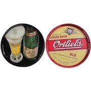 TWO Vintage Beer Trays  - Tuborg Beer and Ortlieb's Ale