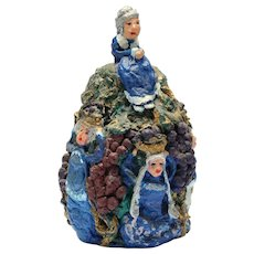 """Granny Grump Of The Vineyard"" - Signed Folk Art Sculpture"