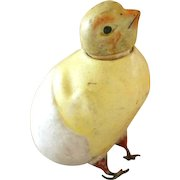 Antique Bisque Hatching Chick Candy Container