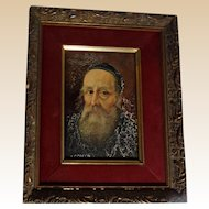 "Signed Original Oil Painting, ""Portrait Of A Priest"""