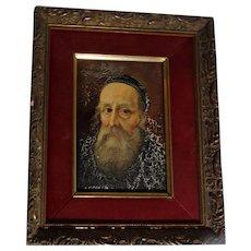 "Signed Original Oil Painting, ""Portrait Of A Priest"""