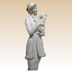 Guiseppe Armani - Lady With Dog Porcelain