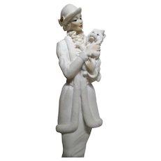 Guiseppe Armani - Lady With Dog Porcelain