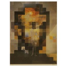 SALVADOR DALI (Spanish 1904 - 1989) - Gala Nude/Abraham Lincoln Face - Fascinating Print..  Comes With the Dalioptic Lens