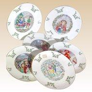 Royal Doulton Christmas Plates -First Through Sixth - 1977 through 1982