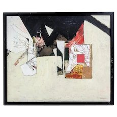 AHLSTROM (American, b. 1922) - Original Signed Mixed Media Painting On Board.