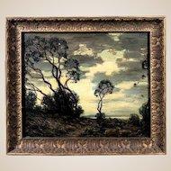 Original Signed Antique Landscape Oil Painting