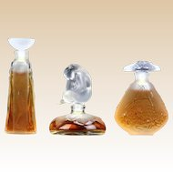 "LALIQUE ""Les Introuvables Ultimate Collection"" - Limited Editions of THREE Miniature Perfumes - 1994, 1995. and 1996"