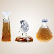 """LALIQUE """"Les Introuvables Ultimate Collection"""" - Limited Editions of THREE Miniature Perfumes - 1994, 1995. and 1996"""