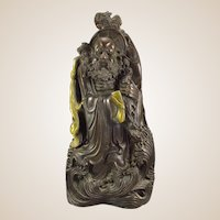 Large Chinese Well-Detailed Bronze Statue