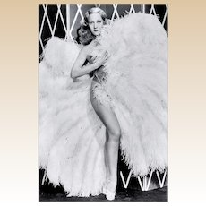 SALLY RAND - Photograph In Her Fan Dance, and Her Autograph
