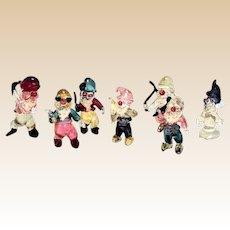 "Venetian Glass Colorful ""Seven Dwarfs"""