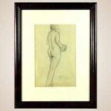 "ANTONINA F. SOFRONOVA (Russian - 1892-1966) ""Female Nude Study"" -Signed With Cyrillic monogram"
